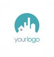 home cityscape building logo vector image