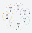 infographics template 7 options with circle vector image vector image