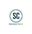 initial letter sc logo template design vector image vector image
