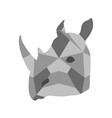 isolated low poly rhino icon vector image