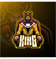 king mascot logo design vector image vector image