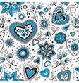 Love hearts seamless pattern 1 vector image