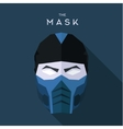 Mask hero into flat style graphics art vector image vector image