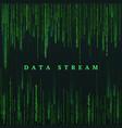 matrix green numbers sci-fi or futuristic vector image vector image