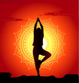 meditating and doing yoga woman vector image