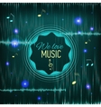 Musical background with key notes and equalizer vector image vector image