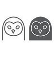 owl line and glyph icon animal and zoo bird sign vector image vector image