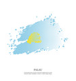 palau flag with halftone effect vector image vector image