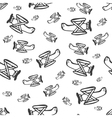 pattern airplane vector image vector image