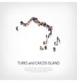 people map country Turks and Caicos Islands vector image vector image