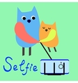 Pets selfie Funny animals on a colored background vector image vector image