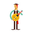 portugal man traditional outfit with a vector image