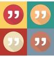 Quote icons isolated on colorful vector image
