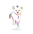 rainbow baby lion line art symbol vector image
