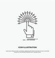 reach touch destination digital analytic icon vector image