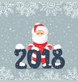 santa 2018 vector image vector image