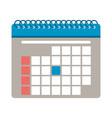 schedule calendar symbol vector image vector image
