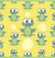 seamless pattern cute cartoon style frog on vector image vector image