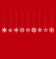 set of christmas decorated snowflakes vector image
