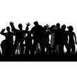 Silhouettes of zombies and tombstones vector image vector image