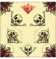 Skull and Rose Frames set 01 vector image vector image