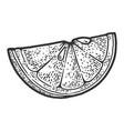 slice lemon sketch vector image vector image
