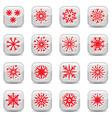snowflake icon set vector image