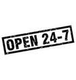 square grunge black open 24 7 stamp vector image vector image