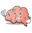 thumbs up brain character cartoon mascot vector image vector image