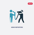 two color news reporters icon from user interface vector image vector image