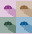 umbrella icon with shade on winter colored vector image