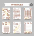 vintage notes with sketch bakery pastries sweets vector image vector image