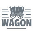 wagon logo vintage style vector image vector image