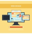 Web design Program for design and architecture vector image vector image