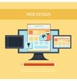 Web design Program for design and architecture vector image