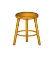 wooden stool in retro design vector image vector image