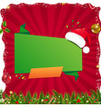 Xmas sale poster with christmas origami banner