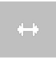 Barbell computer symbol vector image
