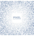 Abstract blue gray light pixel background vector image vector image