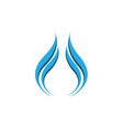 abstract water drop business logo on white vector image vector image