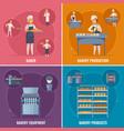 bakery cartoon design concept vector image