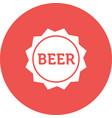 beer sign vector image vector image