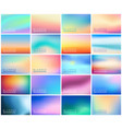 big set 20 horizontal wide blurred nature vector image vector image