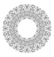 black and white round frame geometric frame vector image vector image