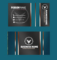 black shinny color business card image vector image vector image