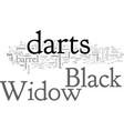 black widow darts vector image vector image