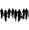 business people walking away vector image vector image
