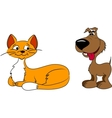 Cartoon Cat and dog vector image vector image