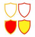 colorful cartoon shield set vector image