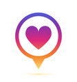 colorful heart sign in circle pin icon vector image